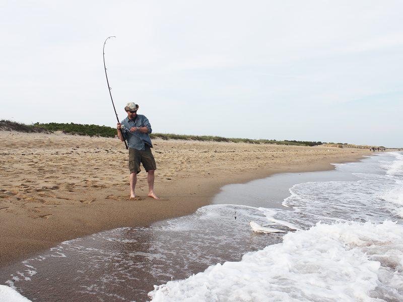Beach Striper Fishing