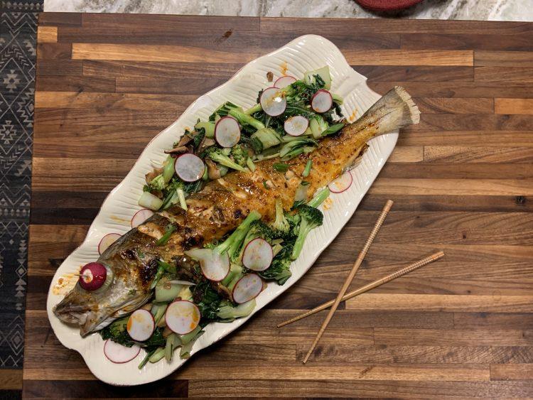 General Tso's Whole Roasted Fish