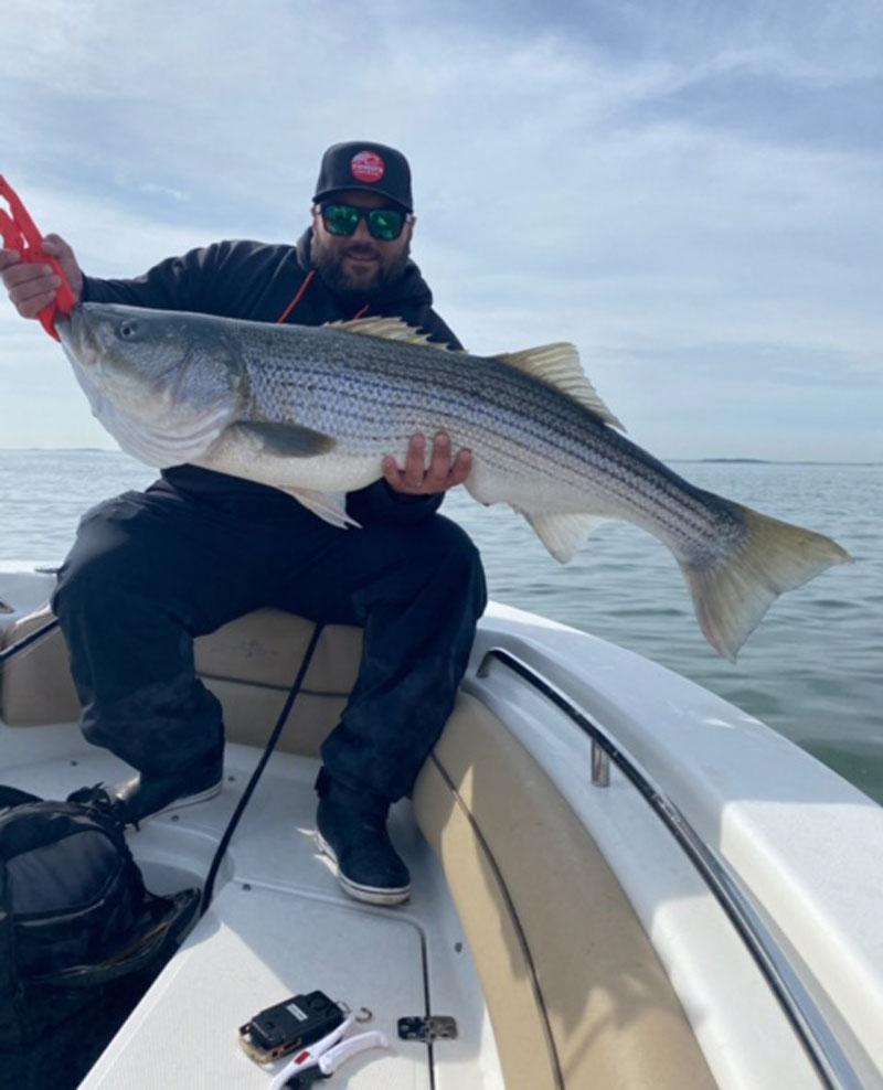 Captain Vinny Schettino striped bass