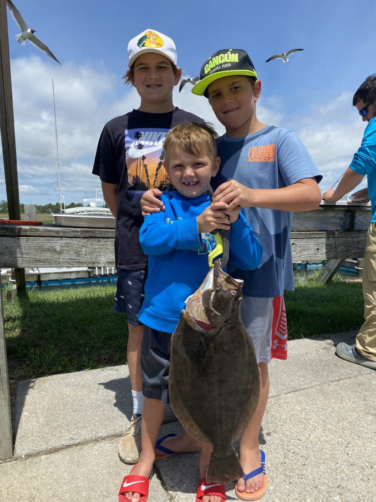 Kid Fluke Fishing