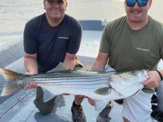 Diamond Pass Charters striped bass