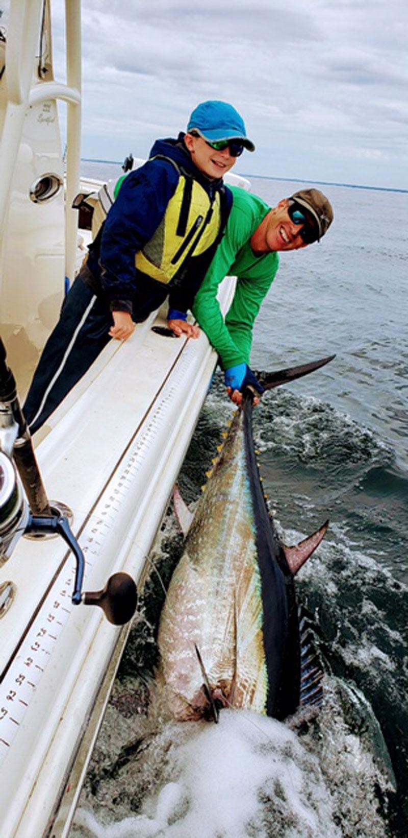 James Garland and his son tuna
