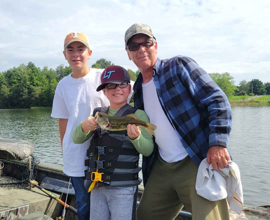 Richard Wahl and grandsons